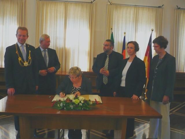 Bild: Landtagspräsidium zu Gast im Rathaus