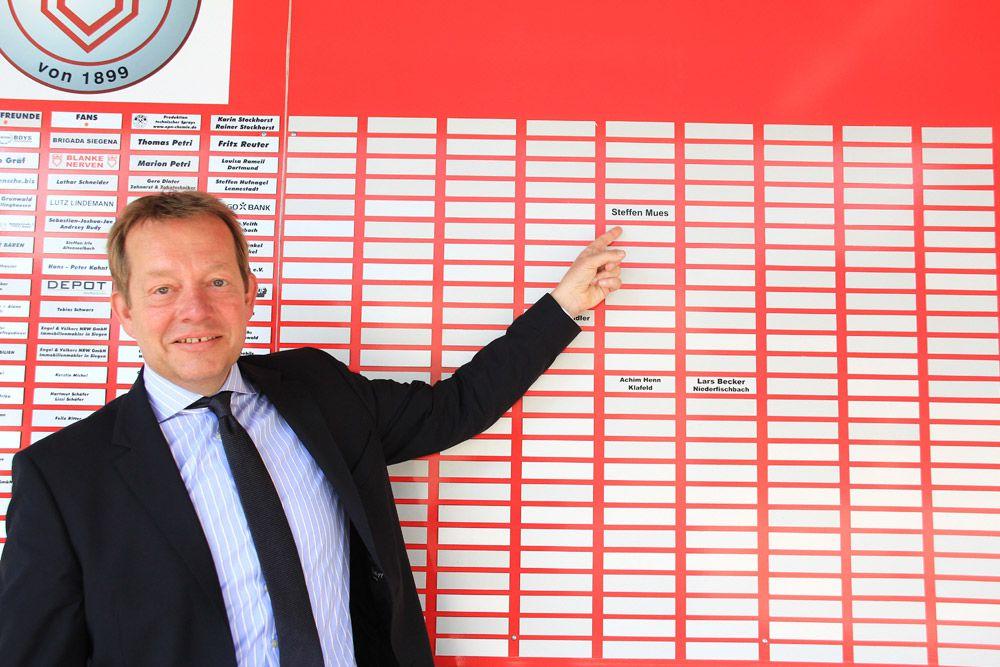 Bild: 1000-Freunde Tafel der Sportfreunde Siegen
