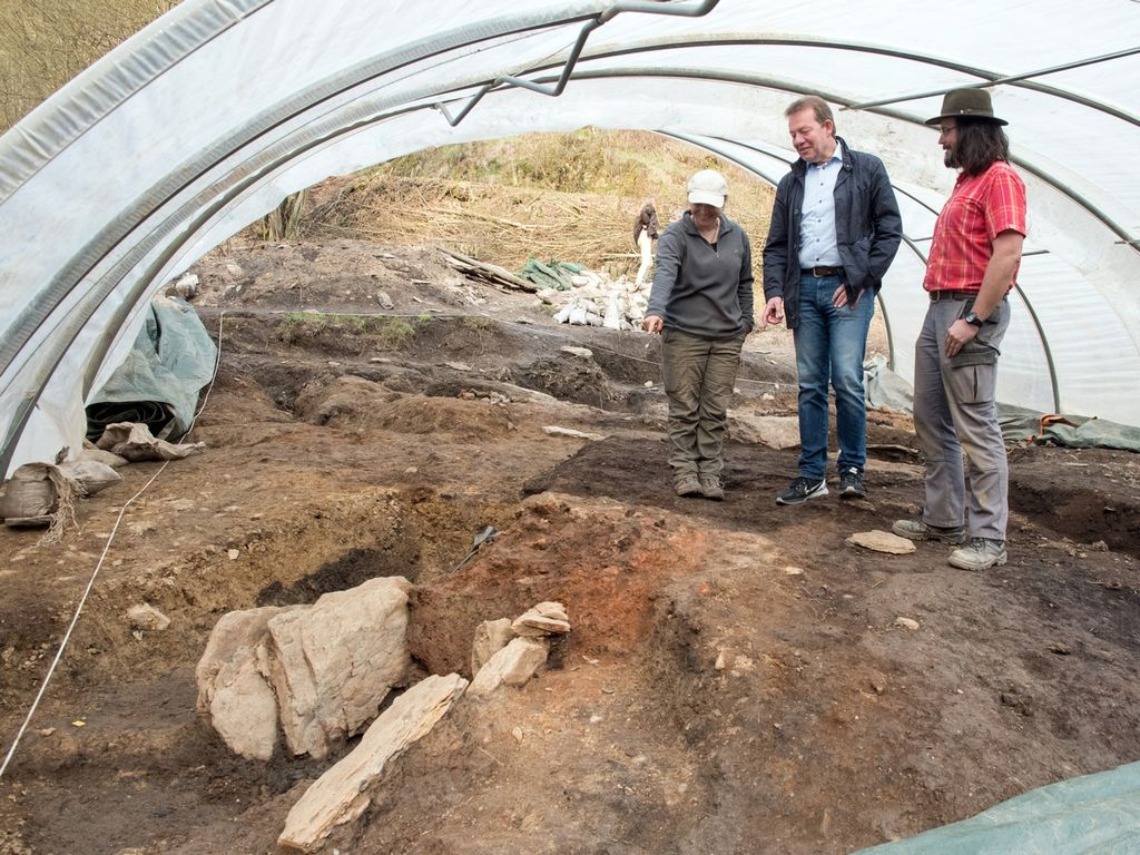 """Bild: Archäologische Grabungen an der Fundstätte """"Gerhardsseifen"""""""