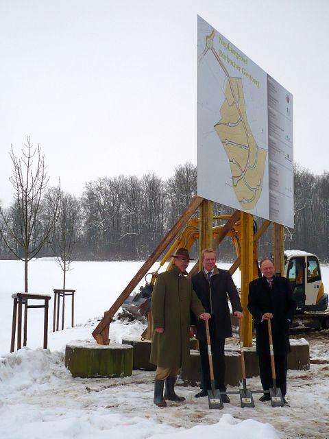 """Bild: 1. Spatenstich zum Baugebiet """"Bürbacher Giersberg"""""""