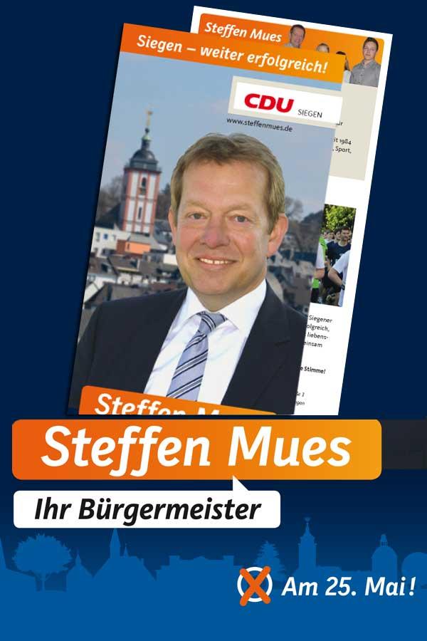 Bild: Informationsflyer Steffen Mues zur Wahl am 25. Mai 2014