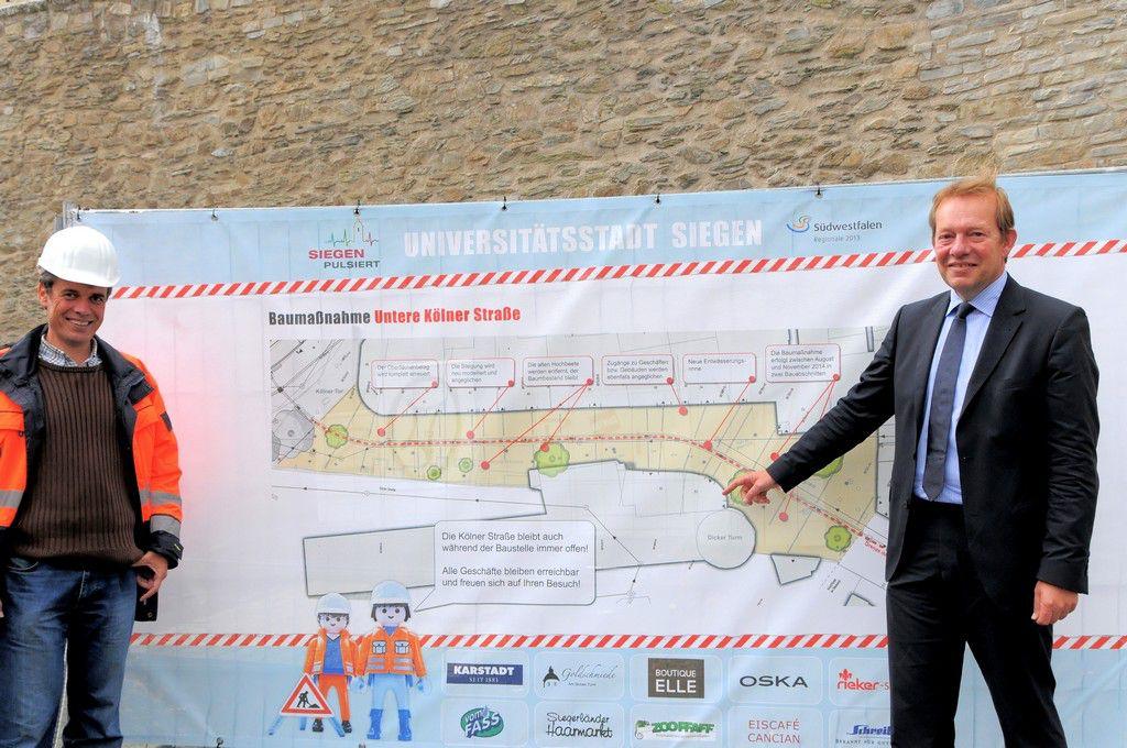Bild: Sanierung und Umbau Kölner Straße hat begonnen: