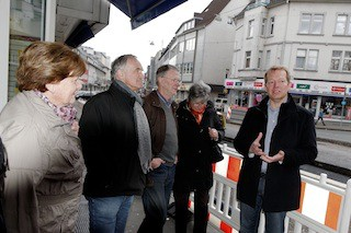 Bild: Baustellenführung mit Bürgermeister Steffen Mues