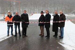 Bild: Kreisel Leimbachstraße eröffnet
