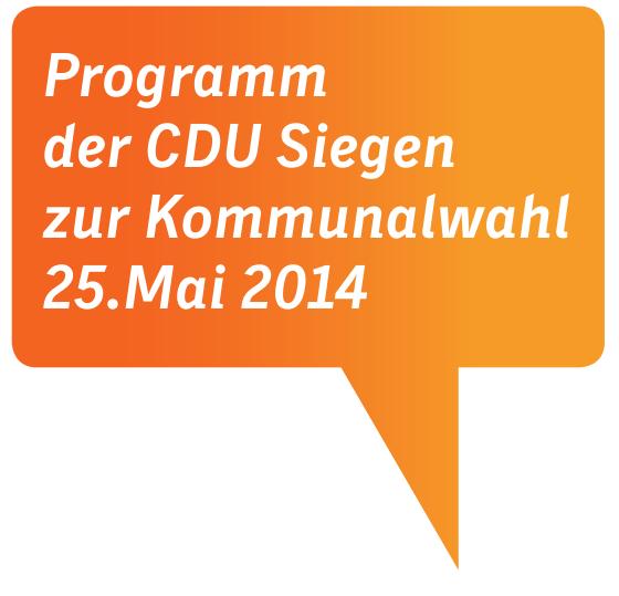 Bild: Programm der CDU Siegen zur Kommunalwahl 25.Mai 2014