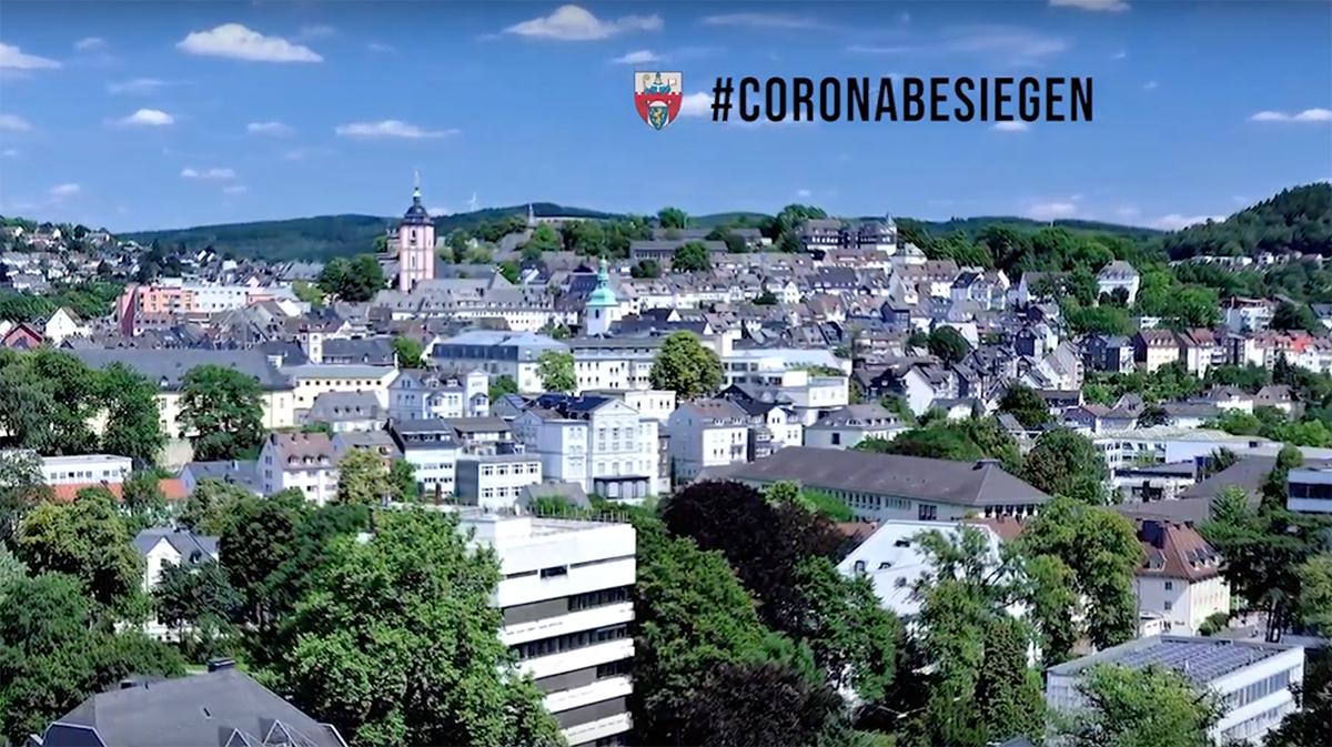 Bild: Videostatement von Bürgermeister Steffen Mues an alle Siegenerinnen und Siegener zur Corona-Pandemie
