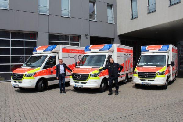 Bild: Stadt Siegen investiert rd. 800.000€ für drei neue Rettungswagen