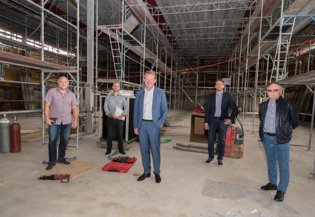 Bild: Sanierung der Rundturnhalle Niederschelden in vollem Gang