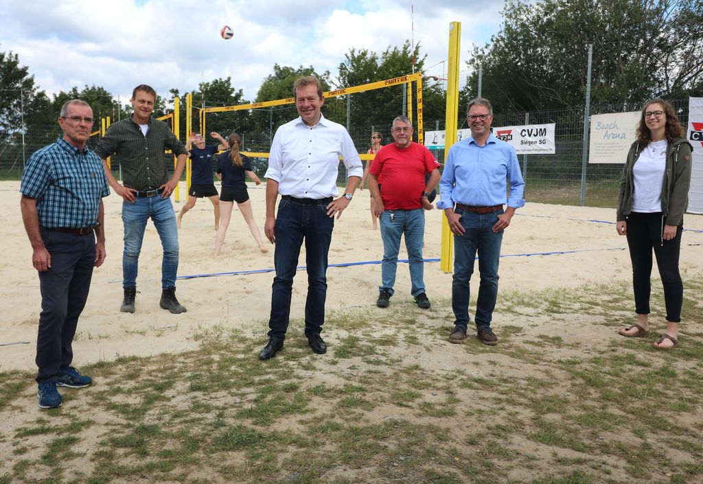 Bild: Beachvolleyballfeld am Giersberg ist erfolgreich umgezogen