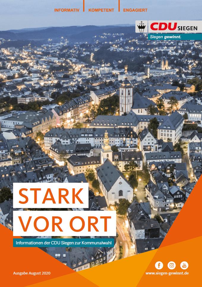 Bild: Informationen der CDU Siegen zur Kommunalwahl