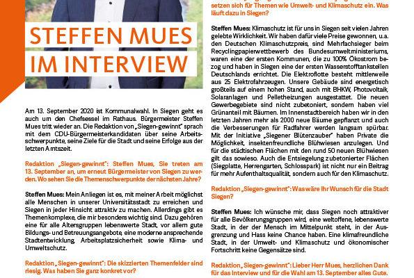 Bild: Steffen Mues im Interview